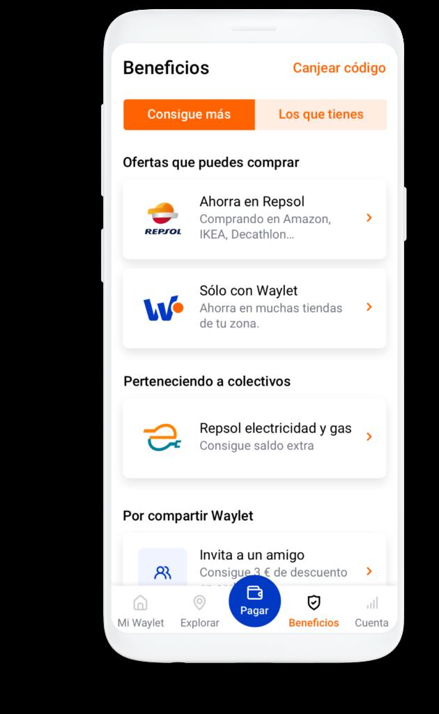 App de pago Waylet para Android gratuita